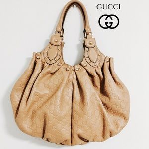 Gucci Guccissima Vintage  Leather Pelham Bag